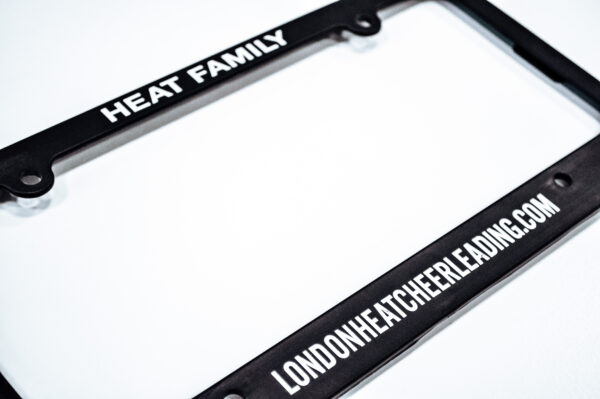 London Heat License Plate Covers
